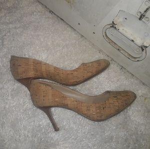 Cork heels.